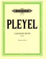 Ignaz Pleyel - 3 Grands duos op. 69 - Partition - di-arezzo.fr
