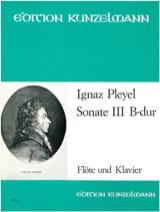 Sonate Nr. 3 B-Dur - Flöte Klavier Ignaz Pleyel Partition laflutedepan