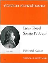 Sonate Nr. 4 A-Dur - Flöte Klavier Ignaz Pleyel Partition laflutedepan