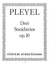 3 Streichtrios op. 10 -Stimmen Ignaz Pleyel laflutedepan.com