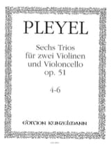 6 Trios op. 51 - Bd. 2 : Nr. 4-6 -2 Violinen u. Violoncello - Stimmen laflutedepan