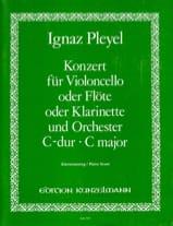 Concerto en do majeur Ignaz Pleyel Partition laflutedepan.com