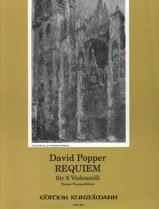 Requiem für 6 Violoncelli David Popper Partition laflutedepan.com