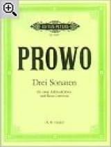 3 Sonaten -2 Altblockflöten und BC Pierre Prowo laflutedepan.com