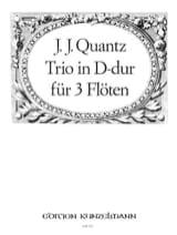 Johann Joachim Quantz - Trio in D-Dur – 3 Flöten - Partition - di-arezzo.fr