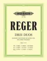 Duo op. 131b n° 3, la majeur Max Reger Partition laflutedepan.com
