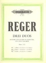 Duo op. 131b n° 2, ré mineur Max Reger Partition laflutedepan.com