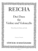 3 Duos für Violine und Violoncello Joseph Reicha laflutedepan