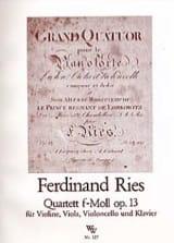 Ferdinand Ries - Quartett in f-moll op.13 – Stimmen - Partition - di-arezzo.fr