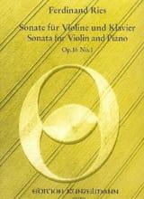 Sonate op. 16 n° 1 Ferdinand Ries Partition Violon - laflutedepan