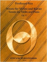 Sonate op. 71 Ferdinand Ries Partition Violon - laflutedepan