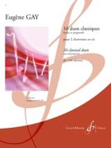 16 Duos classiques - Eugène Gay - Partition - laflutedepan.com