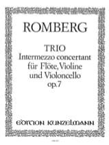 Trio op. 7 - Stimmen Bernhard Heinrich Romberg laflutedepan.com
