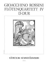 Gioacchino Rossini - Flötenquartett Nr. 4 D-Dur - Stimmen - Sheet Music - di-arezzo.co.uk