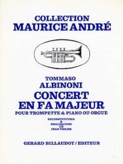 Tomaso Albinoni - Concert En Fa Majeur - Partition - di-arezzo.fr