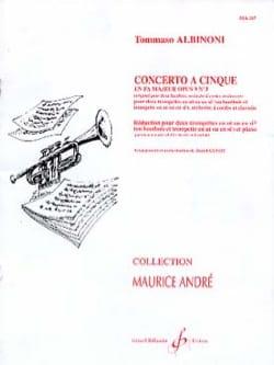 Tomaso Albinoni - Concerto A Cinque Fa Majeur Opus 9 N° 3 - Partition - di-arezzo.fr