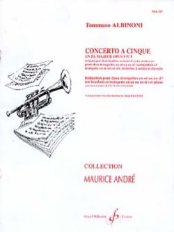 Concerto A Cinque Fa Majeur Opus 9 N° 3 ALBINONI laflutedepan