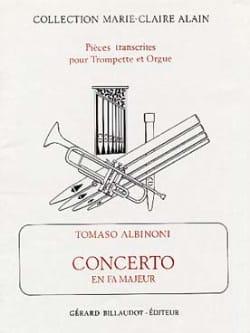 Tomaso Albinoni - Concerto En Fa Majeur - Partition - di-arezzo.fr