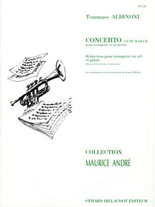 Tomaso Albinoni - Concerto En Ré Majeur - Partition - di-arezzo.fr