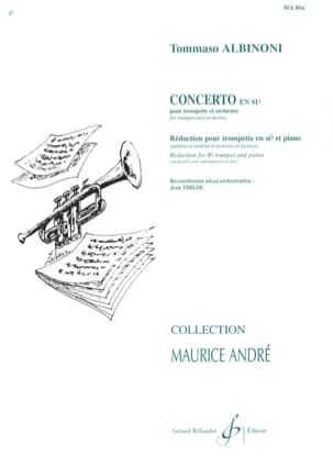 Tomaso Albinoni - Bb Concerto - Sheet Music - di-arezzo.co.uk