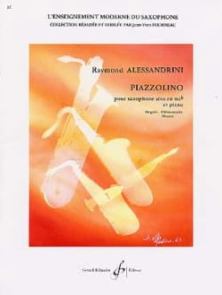 Piazzolino Raymond Alessandrini Partition Saxophone - laflutedepan