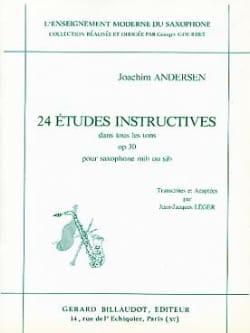 Joachim Andersen - 24 Etudes Opus 30 - Instructives dans Tous les Tons - Partition - di-arezzo.fr