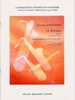 24 Etudes Opus 21 ANDERSEN Partition Saxophone - laflutedepan