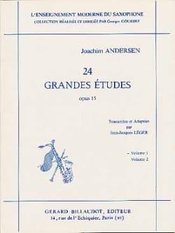 Joachim Andersen - 24 Grandes Etudes Opus 15 Volume 1 - Partition - di-arezzo.fr