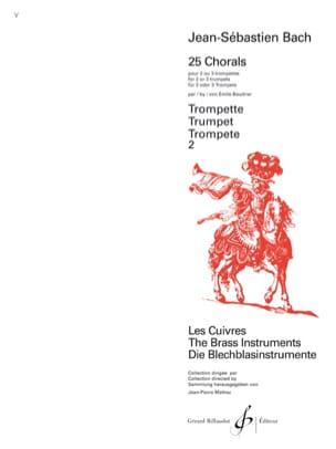 25 Chorals - BACH - Partition - Trompette - laflutedepan.com