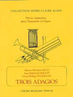 Bach - Loeillet - Telemann - 3 Adagios - Partition - di-arezzo.fr