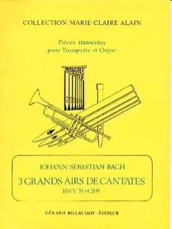 BACH - 3 Grands Airs de Cantates - Partition - di-arezzo.fr