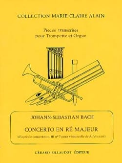 BACH - Concerto En Ré Majeur - Partition - di-arezzo.fr