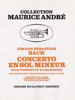 Concerto En Sol Mineur - Johann Sebastian Bach - laflutedepan.com
