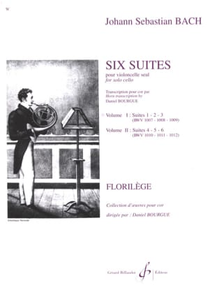Six Suites Cello Volume 1 BACH Partition Cor - laflutedepan