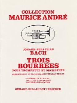 Trois Bourrées - BACH - Partition - Trompette - laflutedepan.com
