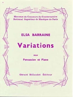 Variations - Elsa Barraine - Partition - laflutedepan.com