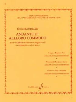 Emile Baudrier - Andante et allegro commodo - Partition - di-arezzo.fr