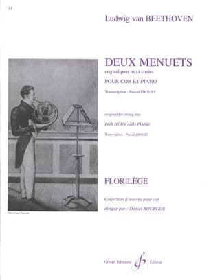 BEETHOVEN - Two Menuets - Sheet Music - di-arezzo.com