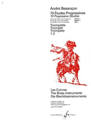 70 Etudes Progressives Volume 1 André Besançon Partition laflutedepan