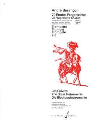 André Besançon - 70 Etudes Progressives Volume 2 - Partition - di-arezzo.fr
