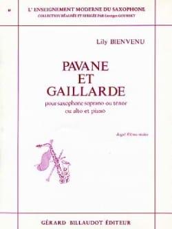 Pavane Et Gaillarde - Lily Bienvenu - Partition - laflutedepan.com
