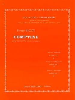 Pierre Bigot - Comptine - Partition - di-arezzo.fr