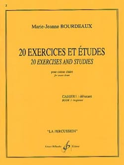 Marie-Jeanne Bourdeaux - 20 Exercises And Studies Notebook 1 - Sheet Music - di-arezzo.com
