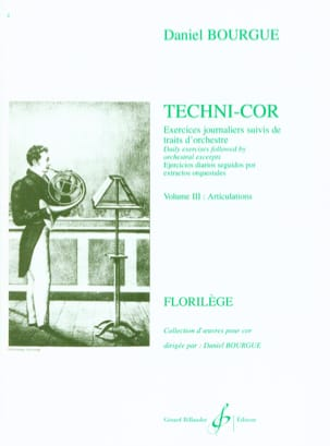 Daniel Bourgue - Techni-Cor Volume 3 - Articulations - Partition - di-arezzo.fr