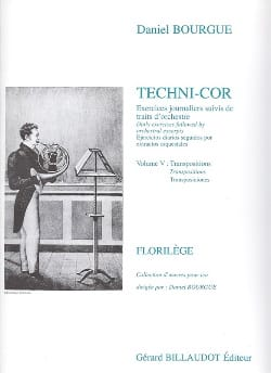 Daniel Bourgue - Techni-Cor Volume 5 - Transposition - Partition - di-arezzo.fr
