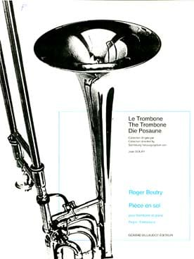 Pièce En Sol Roger Boutry Partition Trombone - laflutedepan