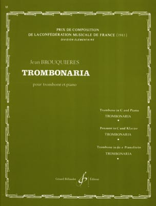 Jean Brouquières - Trombonaria - Sheet Music - di-arezzo.co.uk