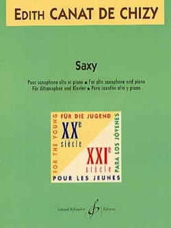 Edith Canat De Chizy - Saxy - Sheet Music - di-arezzo.co.uk