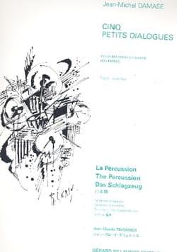 5 Petits Dialogues Jean-Michel Damase Partition Marimba - laflutedepan