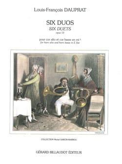 Louis-Francois Dauprat - Six Duos Opus 13 - Partition - di-arezzo.fr